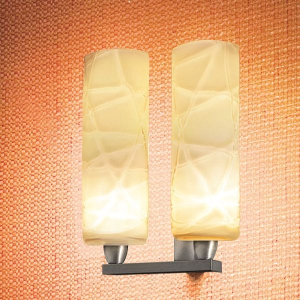 Follia AP 2 P wall sconce with crystal threads