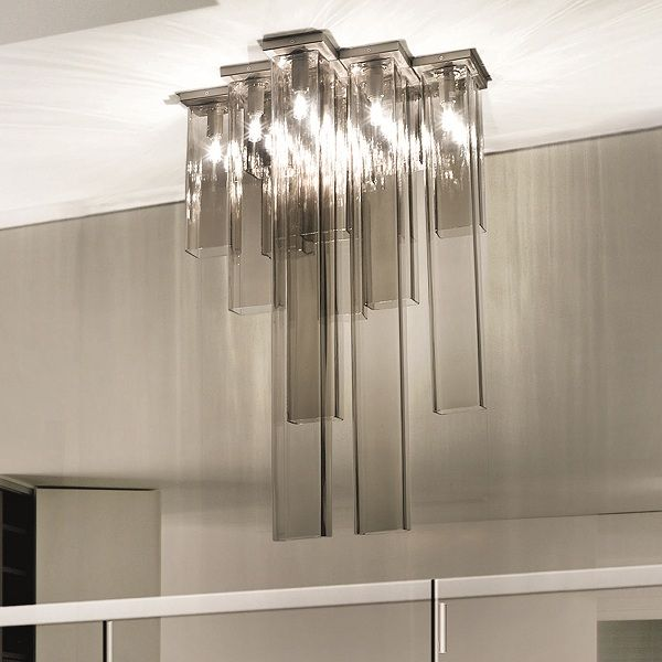Tubes PL 15 Ceiling fixture, smoked grey