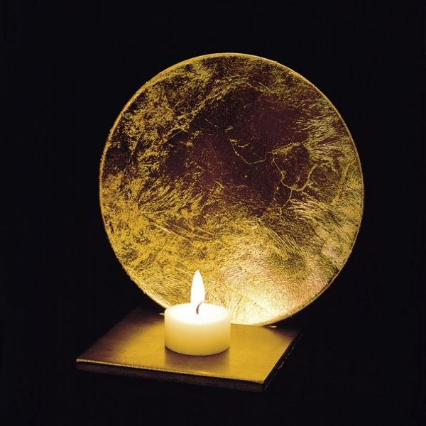 Luna candleholder in gold