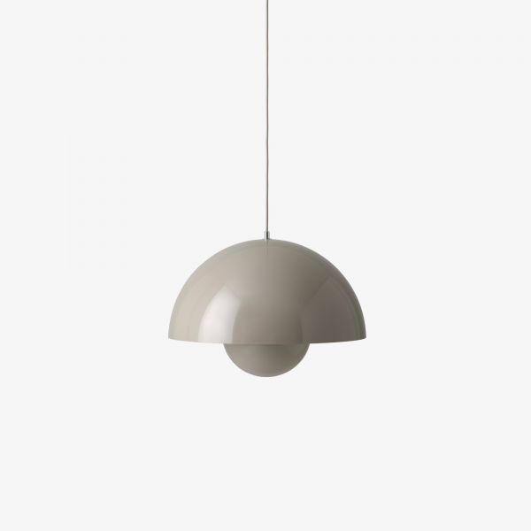 Flowerpot VP7 pendant light, grey-beige (mud)