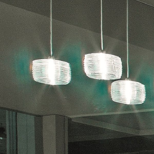 Damasco SP C Pendant light, crystal white