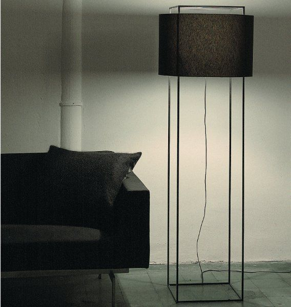 Floor lamp Lewit P in black