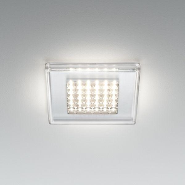 Quadriled recessed light transparent