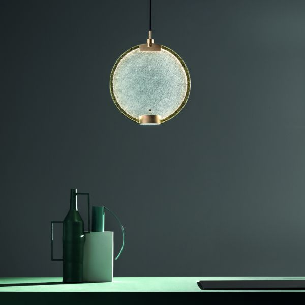 Horo S1 pendant light, transparent