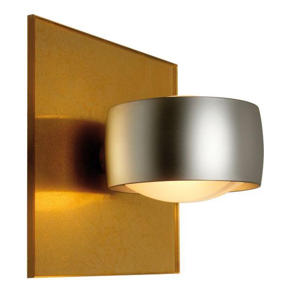 Grace Unlimited LED wall sconce, Gold leaf / Chrome matt