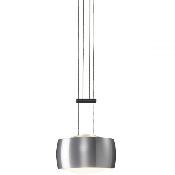 Grace Single Pendant light, Alu brushed