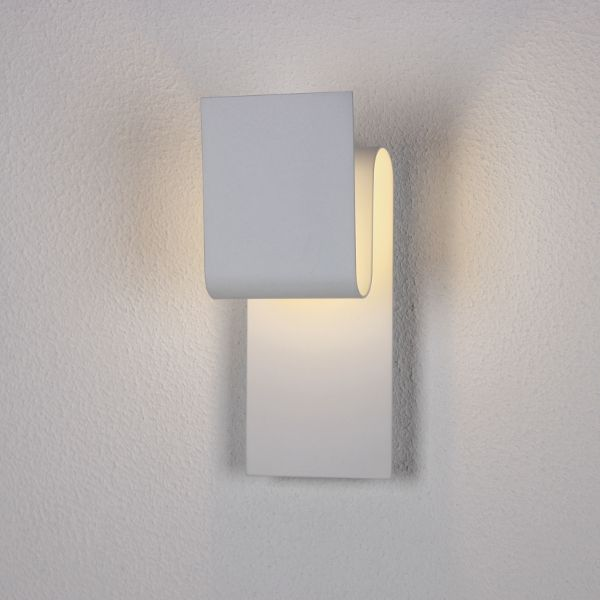 Fold wall lamp in white