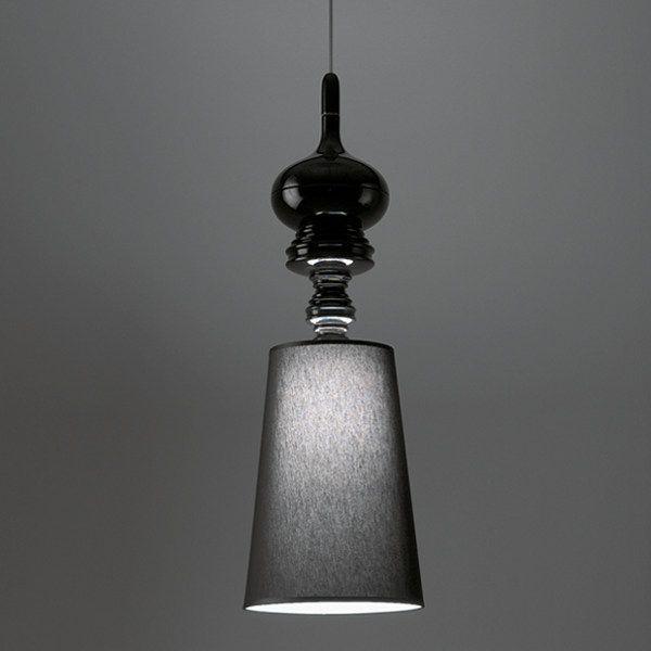Josephine T suspension lamp in black