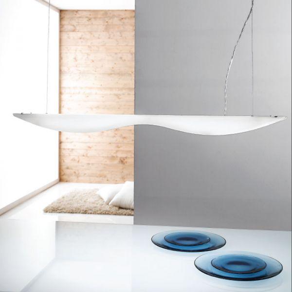 Elica Pendant Lamp With White Finish