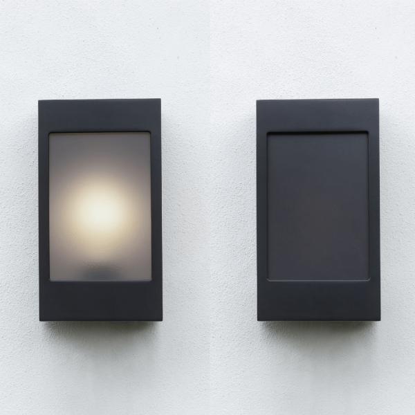 Brick Outdoor wall light, black PMMA
