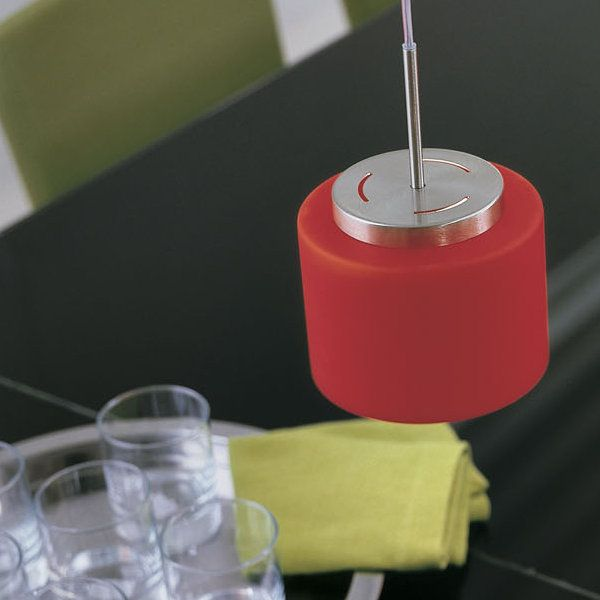 Round SO 15 Pendant light, red