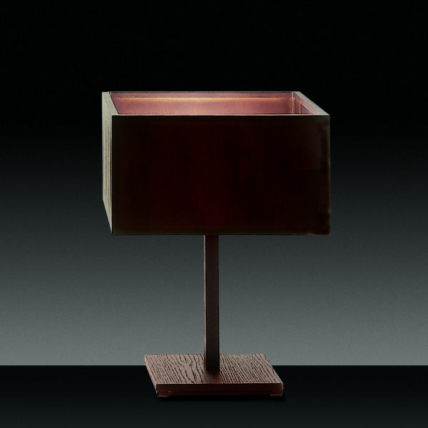 Wood table light, square