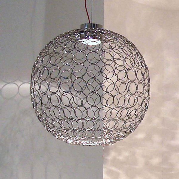A nickel G.R.A. 70 pendant light