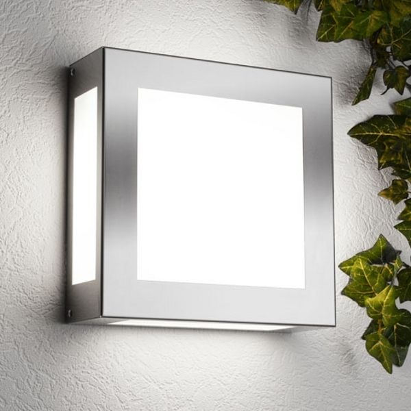 Aqua Legendo wall lamp, stainless steel