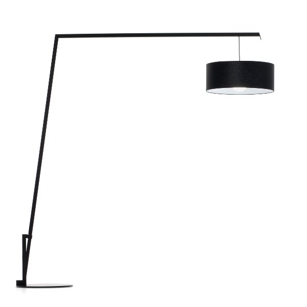 Angelica Black Cotton/Polyester Floor light