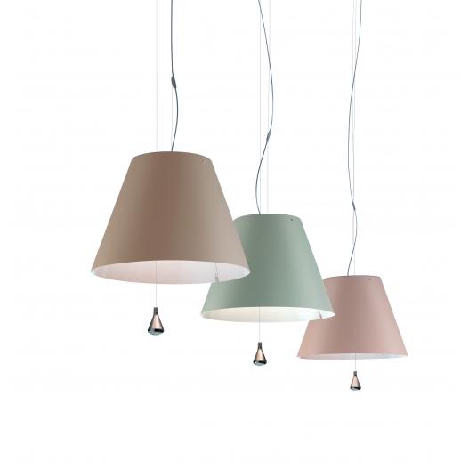 Costanza D13 sa.s. Pendant light in the colors nougat, seagreen, puder (f.l.t.r.)