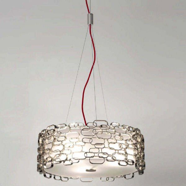A nickel Glamour pendant light