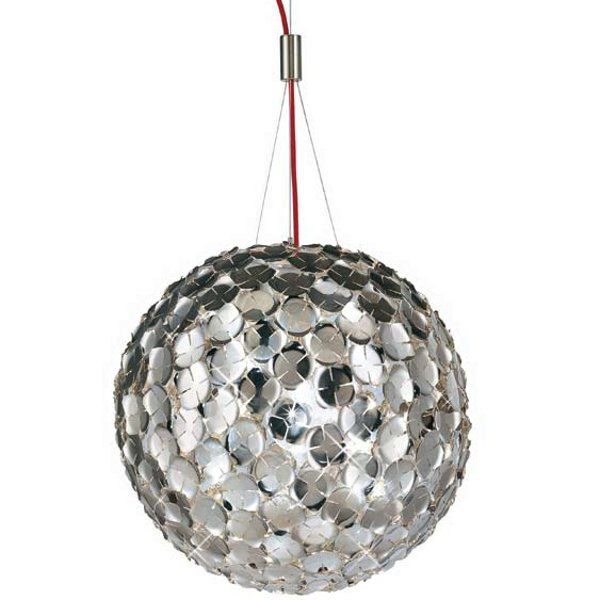 A galvanically nickel-plated Orten`zia 50 pendant light