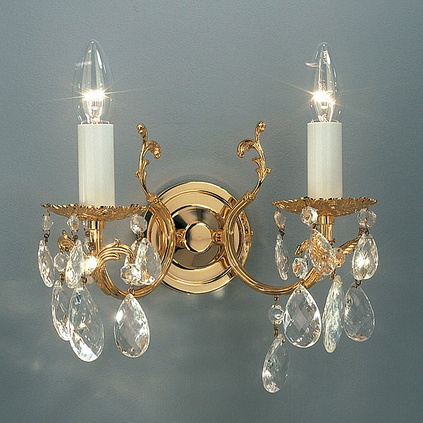 Victoria 2 wall light, the new version has golden candles