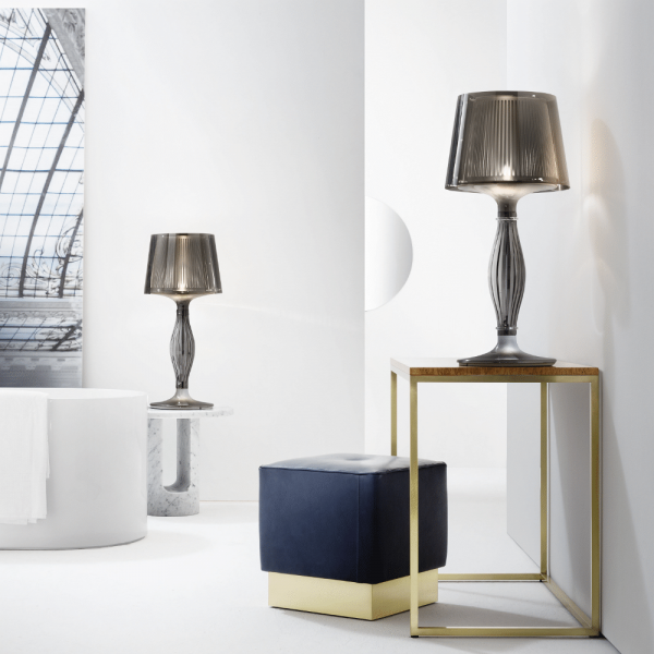 Liza table lamp, pewter