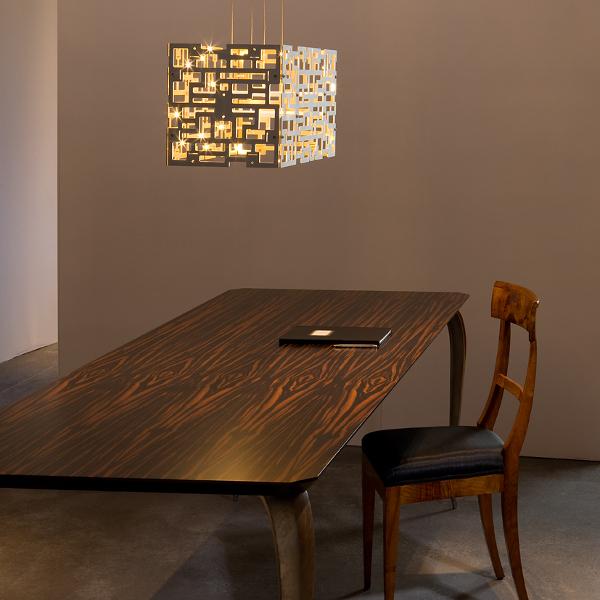 Alumega rectangular Pendant lamp in ambiance