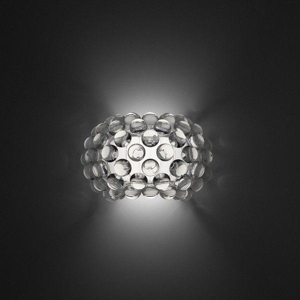 Caboche piccola wall lamp transparent