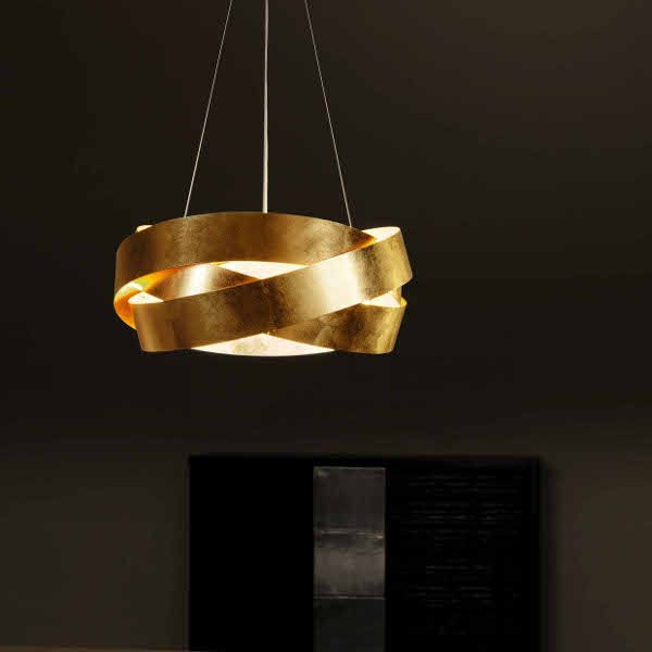 Pura Suspension lamp gold