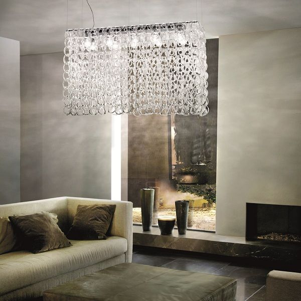 Giogali SP RE 1 Pendant light, crystal clear