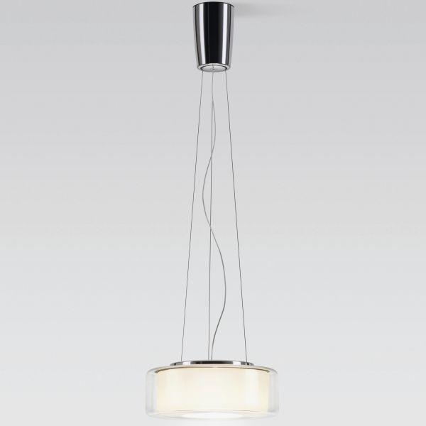 Curling Rope klar / zylindrisch opal LED Pendelleuchte