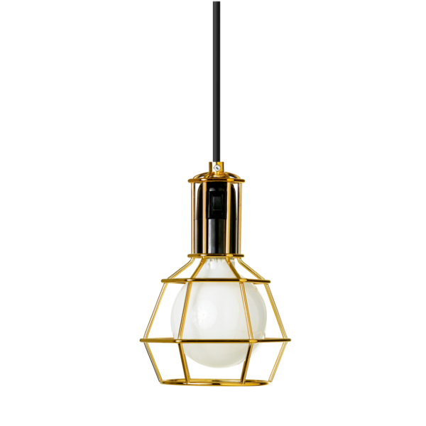 Work lamp suspension light, gold