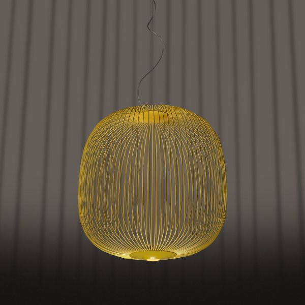 Spokes 2 Suspension lamp in gold