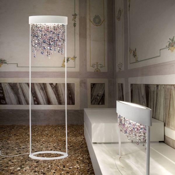 Olà STL2 floor light and Olà TL2 table light white