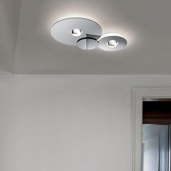 Bugia Double Ceiling Light, Chrome