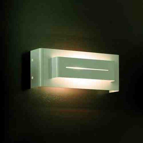 A white Vision wall sconce