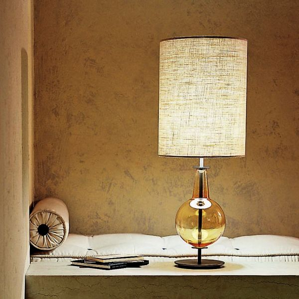 New Classic Desir Table light, medium cylinder, linen, amber