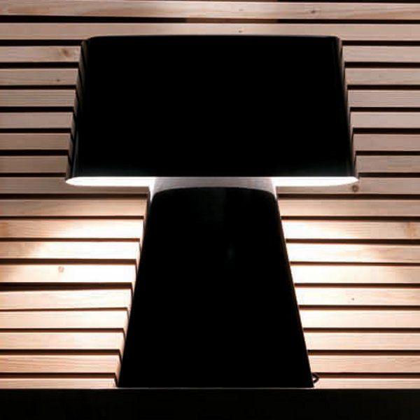 A black Bag table light