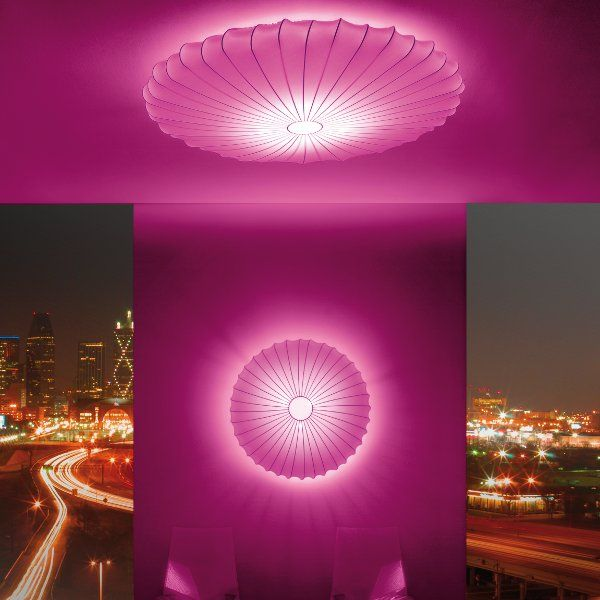 Muse 80 und 120 PL in pink als Wall light & ceiling
