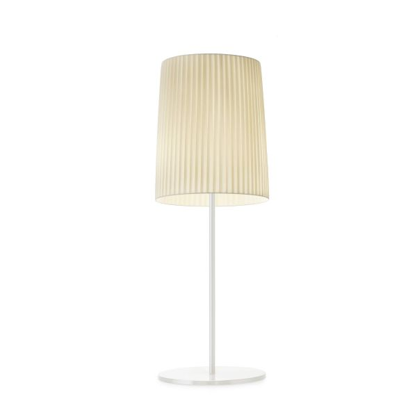 Romeo small Table Light white / pleated fabric