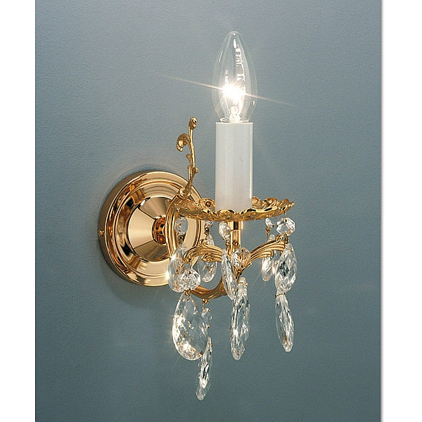 Victoria 1 wall light, now with gold-plated candles