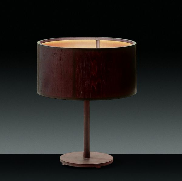 Wood table light, round
