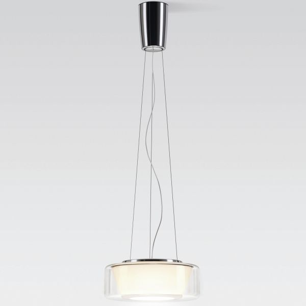 Curling Rope clear / conical opal LED pendant light