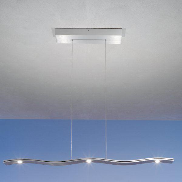 Fluid Pendant light, 5 lights, aluminium matt