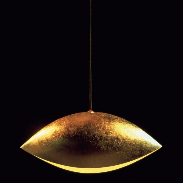 Malagola suspension lamp in gold