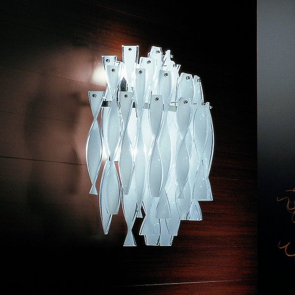 The white AP AURA wall sconce
